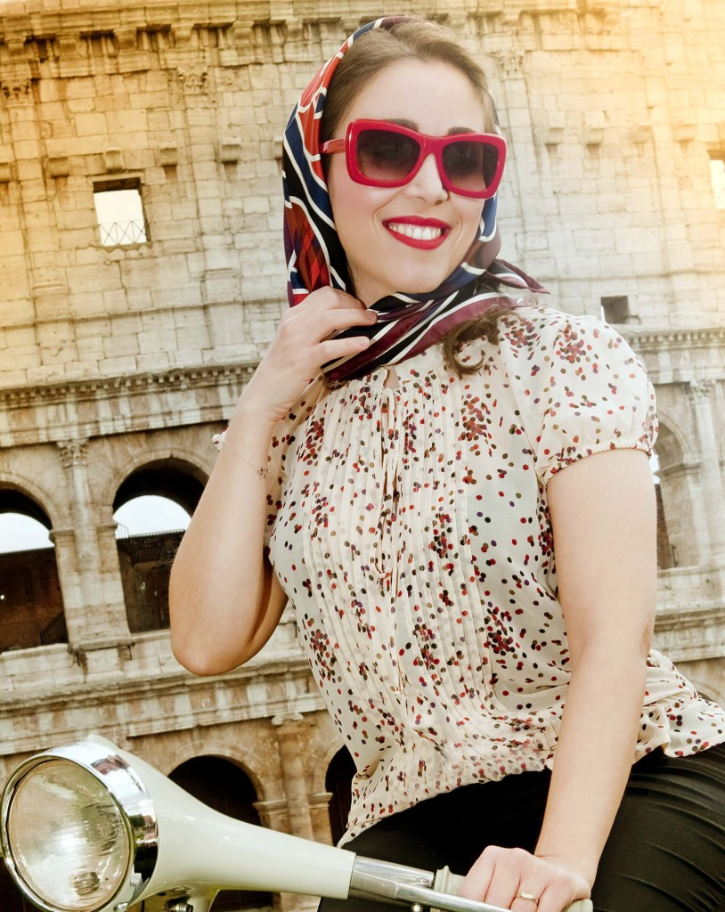 "Foto tratta da un servizio per una campagna legata a un Evento a tema ""Vacanze Romane"" (Foto Claudio Bru)"